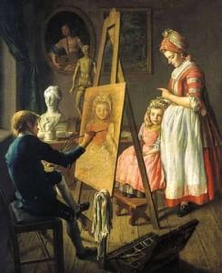 Картина Ивана Фирсова «Юный живописец»