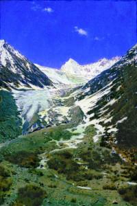 Ледник по дороге из Кашмира в Ладакх