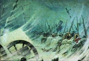 Василий Верещагин. Ночной привал великой армии.