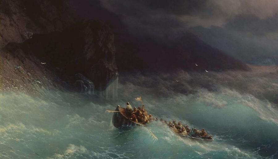 Айвазовский Иван - Буря на черном море