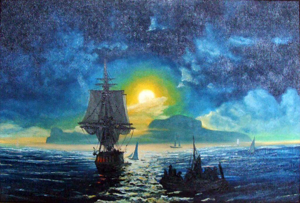 Айвазовский Иван - Лунная ночь на Капри