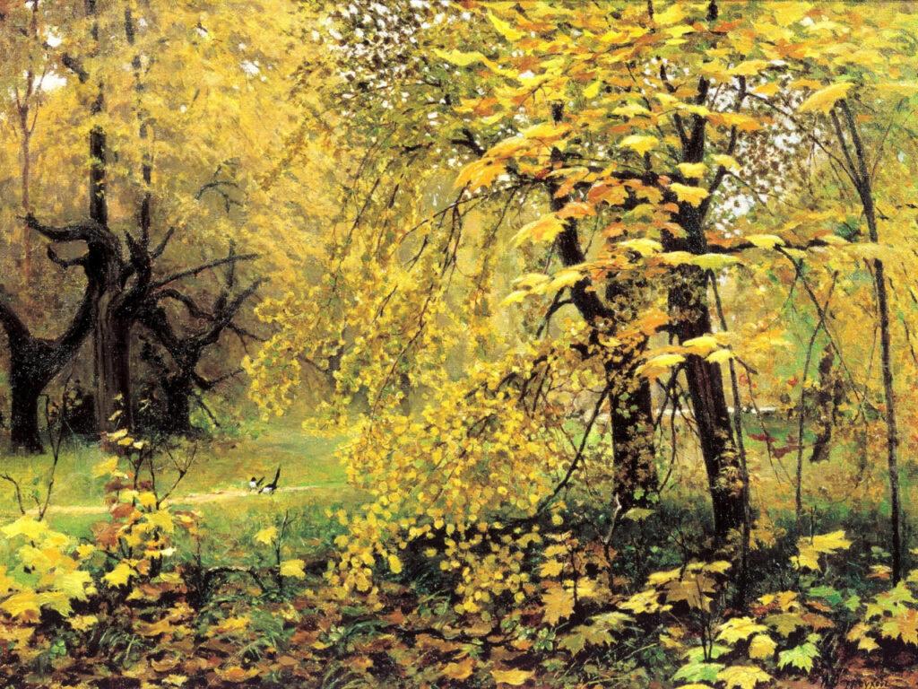 Картина «Золотая осень» И. Остроухова