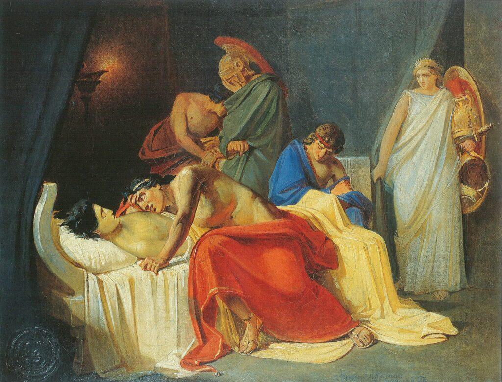 Картина Ахиллес оплакивает Патрокла
