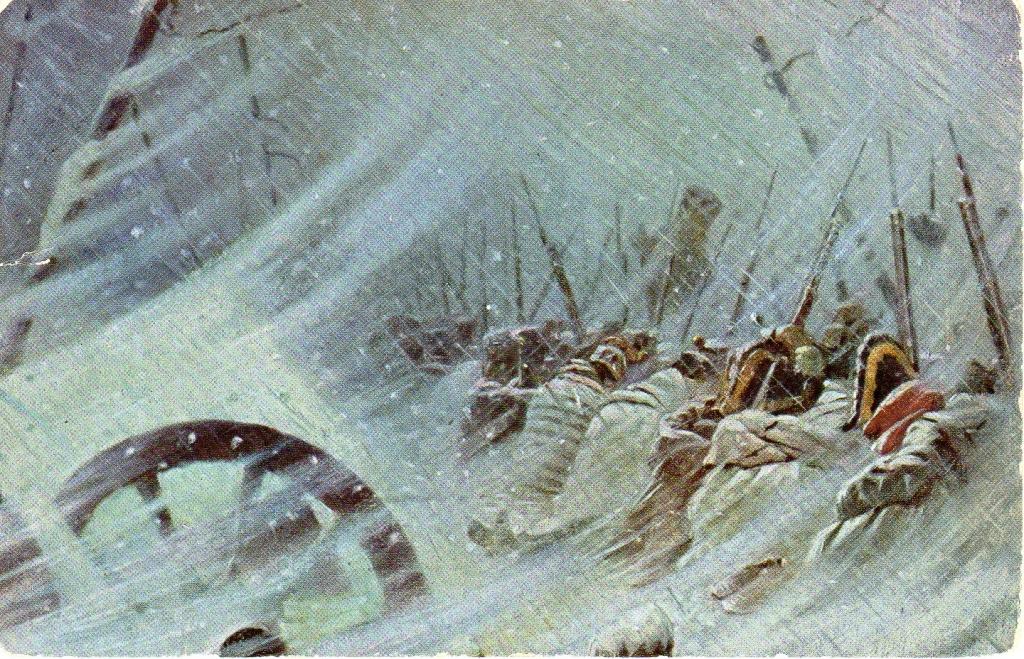 Василий Верещагин. Картина ночной привал великой армии