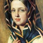 Сочинение по картине А.Г. Венецианова «Девушка в платке»
