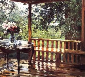 Сочинение по картине А.М. Герасимова «После дождя»
