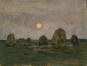 Сочинение по картине И.И. Левитана «Сумерки. Стога»