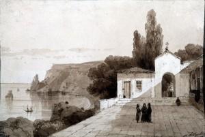 Сочинение по картине И.К. Айвазовского «Георгиевский монастырь»