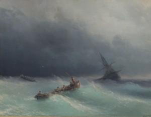 Сочинение по картине И.К. Айвазовского «Морской пейзаж»