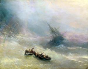 Сочинение по картине И.К. Айвазовского «Среди волн»