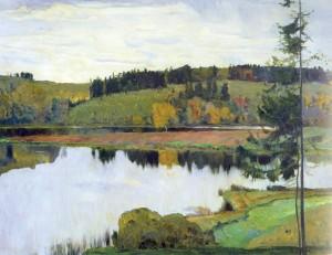 Сочинение по картине М.В. Нестерова «Осенний пейзаж»