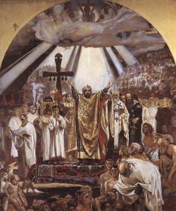 Сочинение по картине В.М. Васнецова «Крещение Руси»
