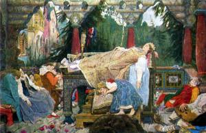 Сочинение по картине В.М. Васнецова «Сказка о спящей царевне»