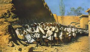 Сочинение по картине В.В. Верещагина «У крепостной стены. Пусть войдут»