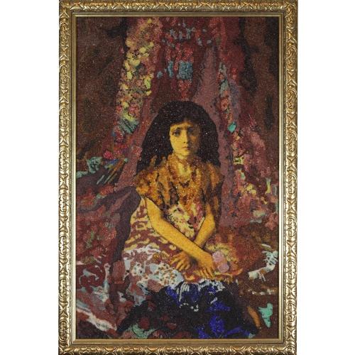 Девочка на фоне персидского ковра. Врубель