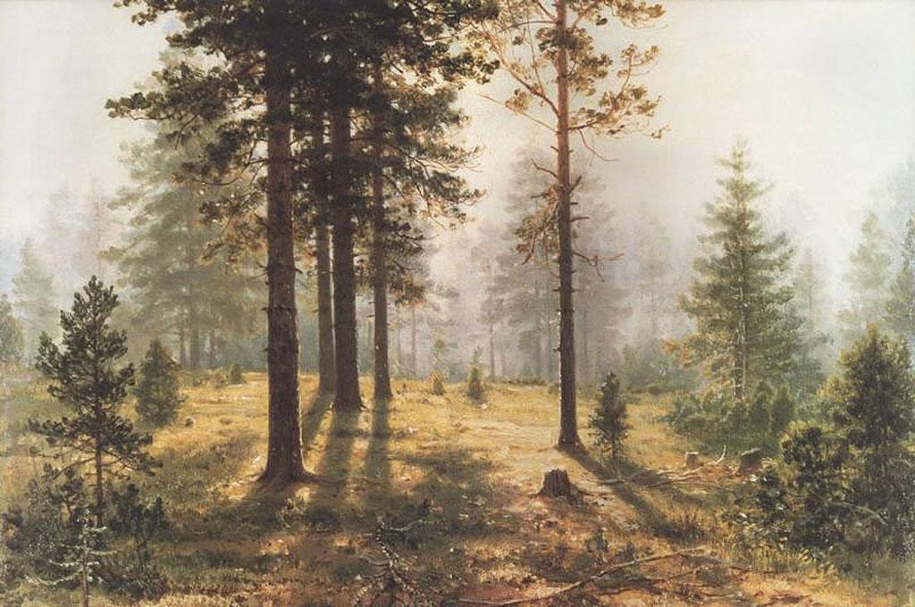 Иван Шишкин. Туман в лесу
