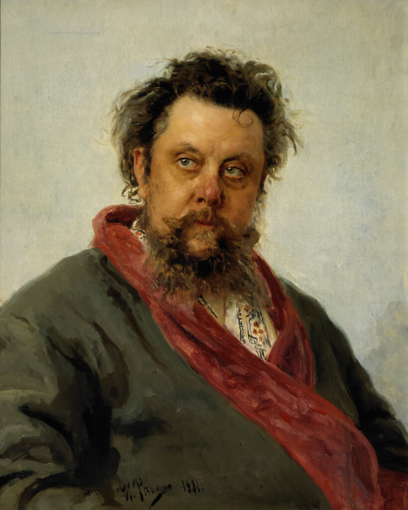 Портрет композитора М. П. Мусоргского