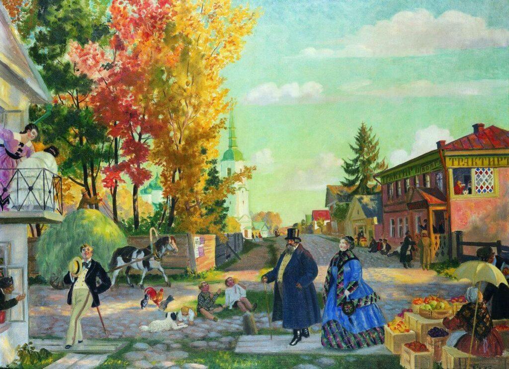 Картина Бориса Кустодиева «Осень»