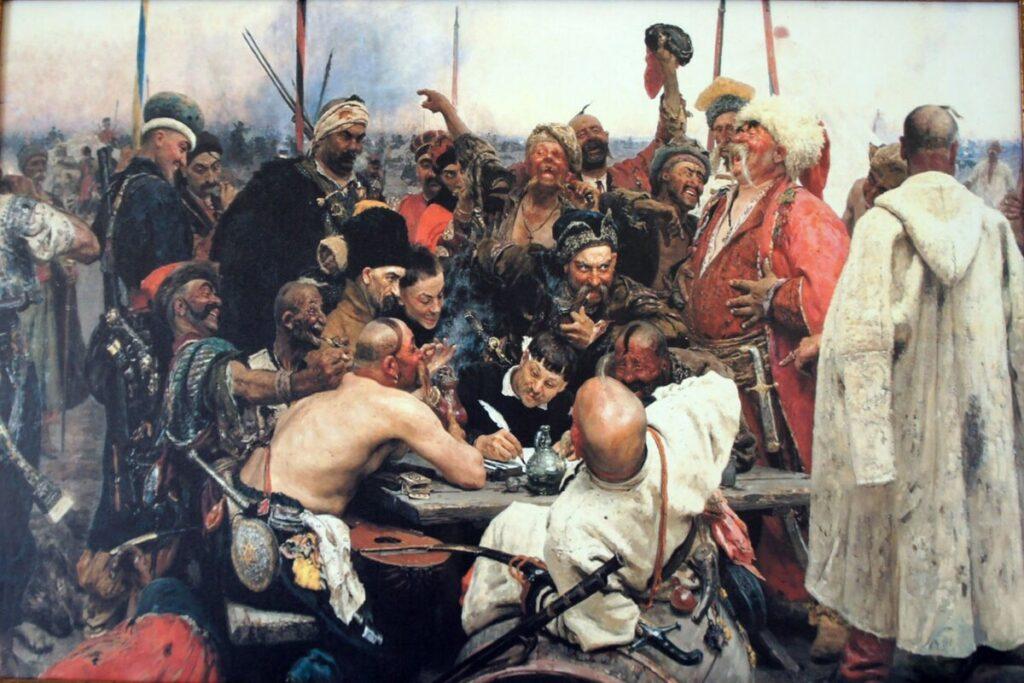 Картина - Запорожцы пишут ответ султану Мохаммеду IV