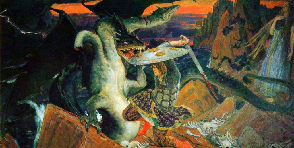 Сочинение по картине В. М. Васнецова «Битва Ивана-царевича с трехглавым Змеем»