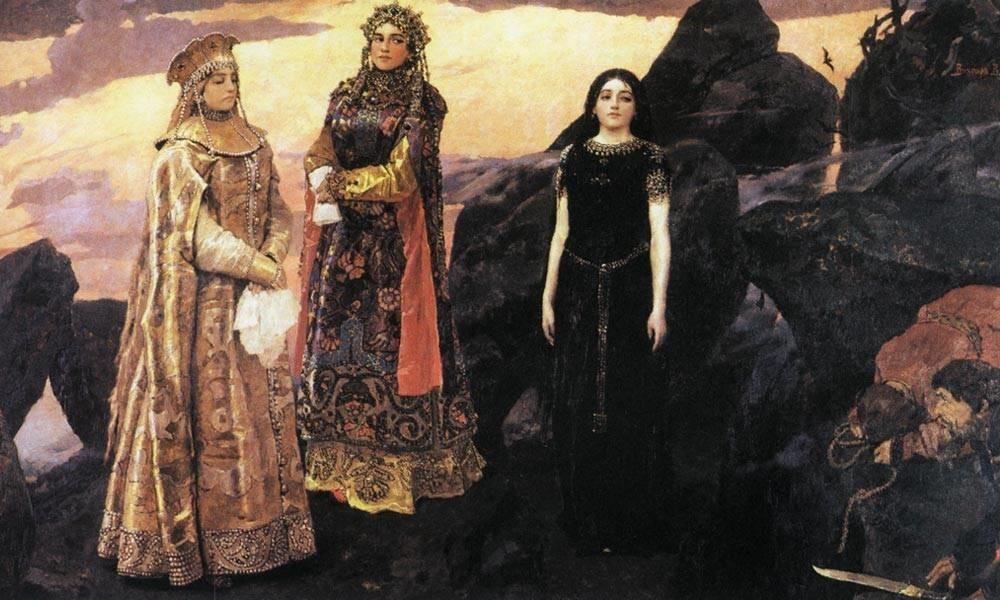 В. М. Васнецова «Три царевны подземного царства»