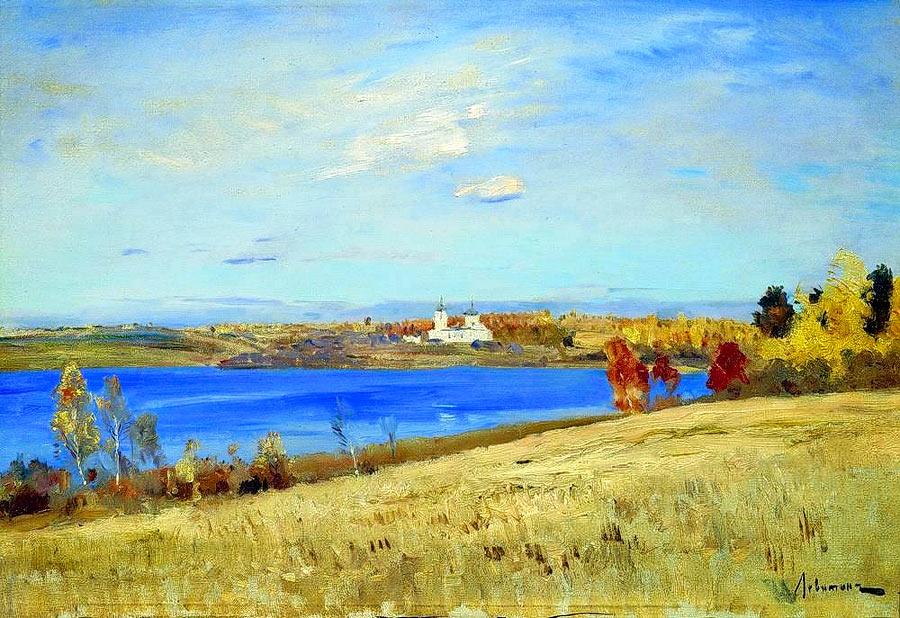 «Осень. Река» - Описание картины Исаака Левитана