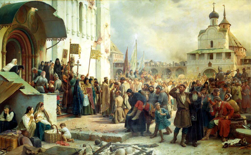 Картина Осада Троице-Сергиевой лавры
