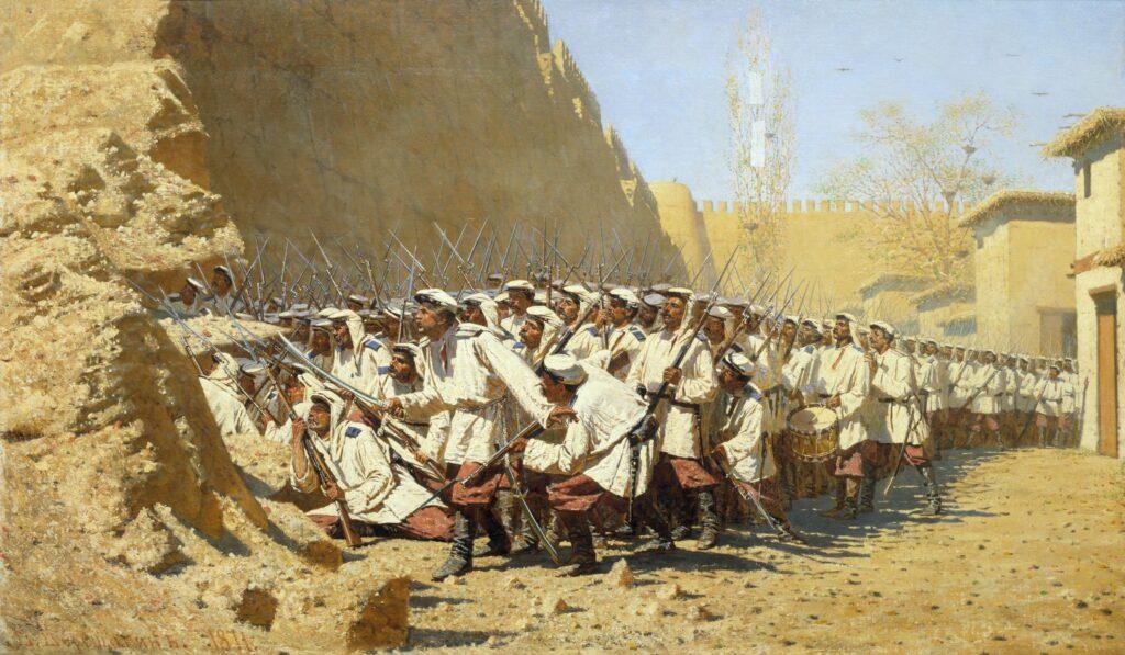 Сочинение по картине В. В. Верещагина «У крепостной стены. Пусть войдут»