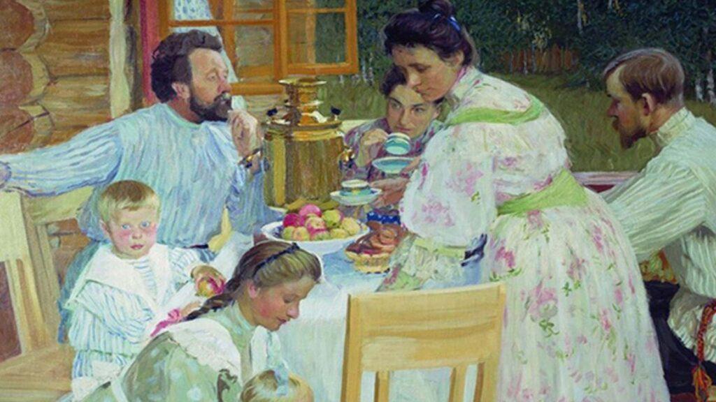 Сочинение по картине Б. М. Кустодиева «На террасе»
