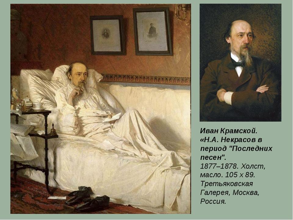 """Картина Н. А. Некрасов в период """"Последних песен"""". И. Крамской"""