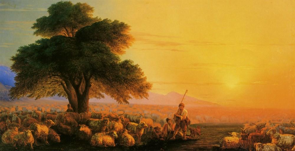 Сочинение по картине И. К. Айвазовского «Отара овец»