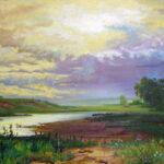 Картина «Мокрый луг» Ф. Васильева