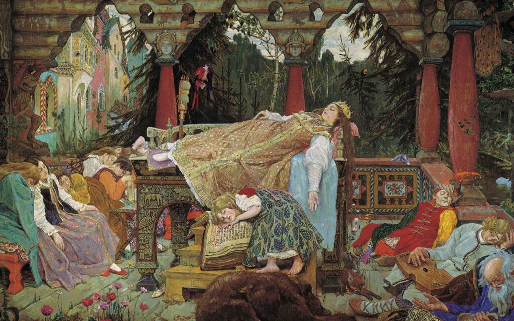 Сочинение по картине В. М. Васнецова «Сказка о спящей царевне»