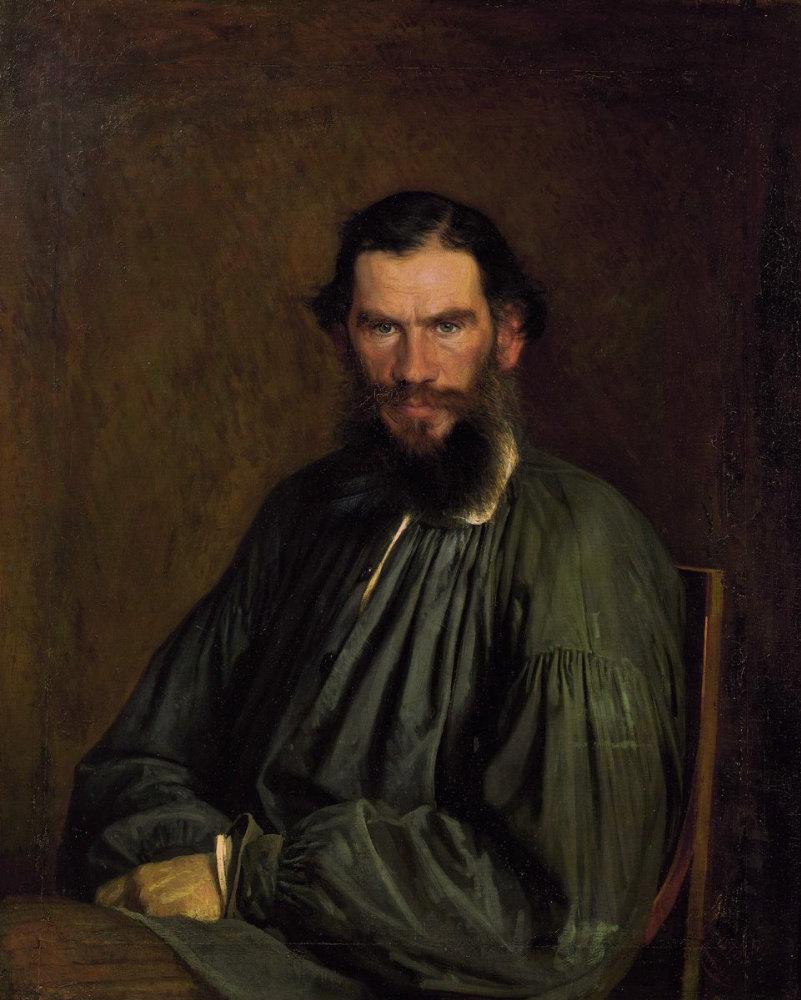 Портрет писателя Льва Николаевича Толстого