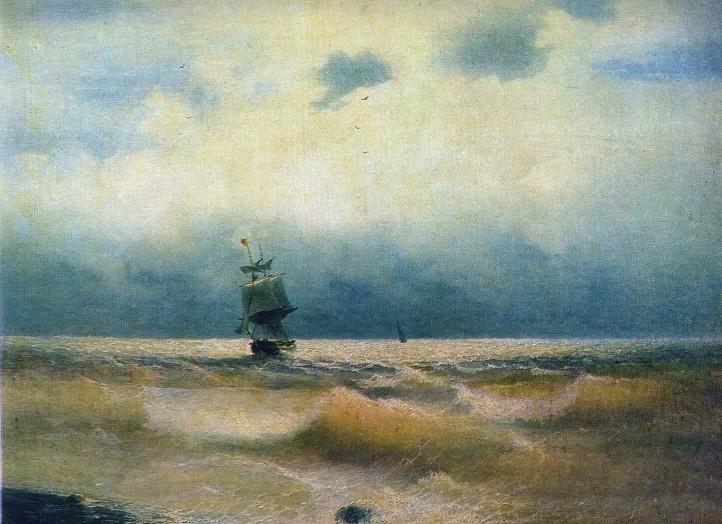 Сочинение по картине И. К. Айвазовского «Корабль у берега»