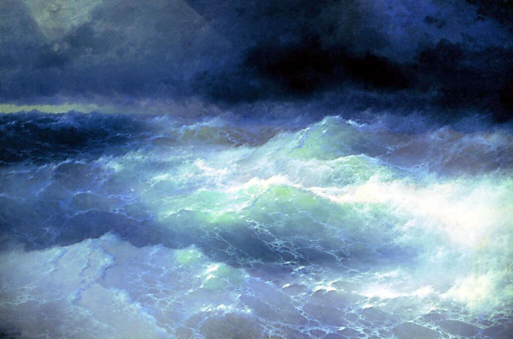 Сочинение по картине И. К. Айвазовского «Среди волн»