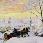 Картина Бориса Кустодиева «Зимний пейзаж»