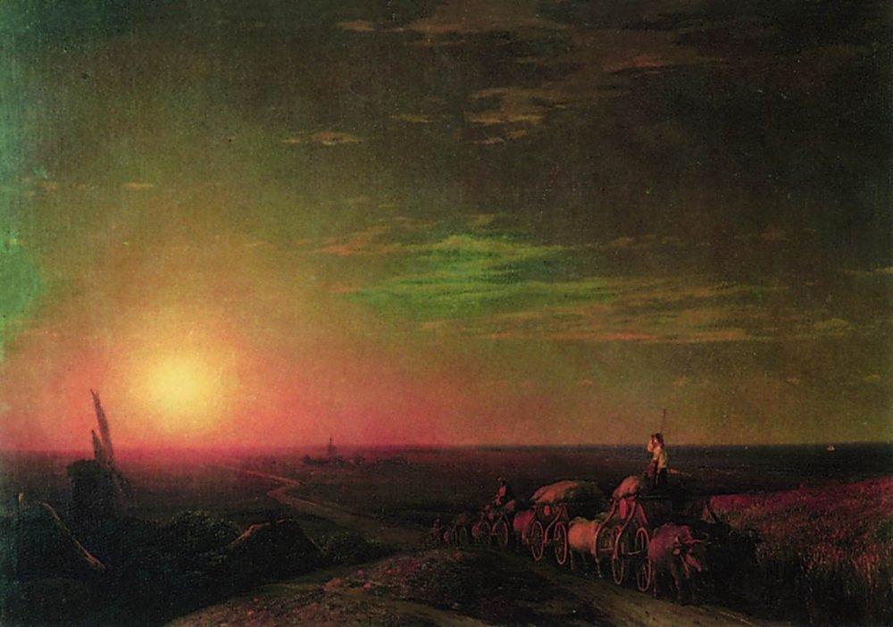 Сочинение по картине И. К. Айвазовского «Обоз чумаков»