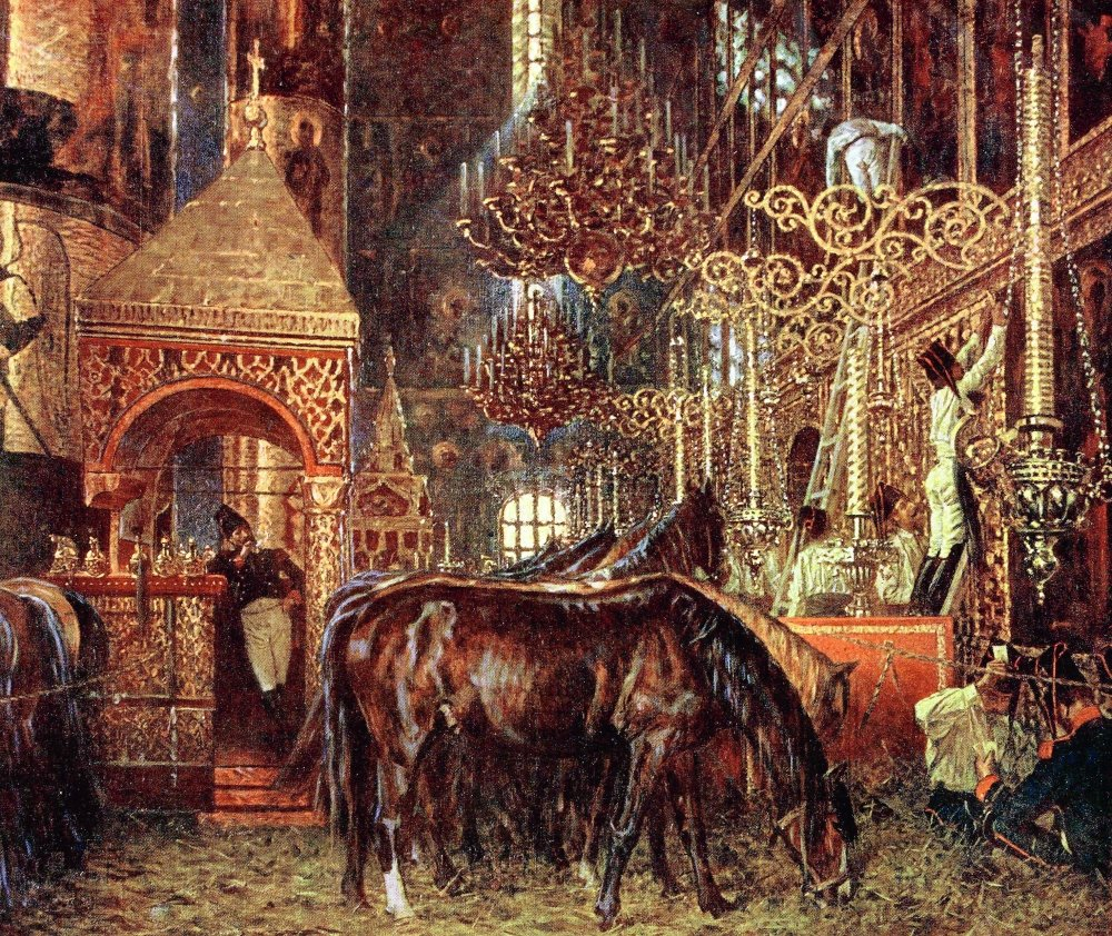 Сочинение по картине В. В. Верещагина «В Успенском соборе»