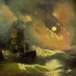 Айвазовский Иван - Буря на море ночью