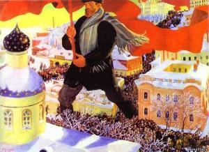 Большевик. Сочинение по картине Б.М.Кустодиева