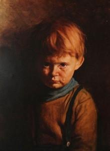 История картины Плачущий мальчик