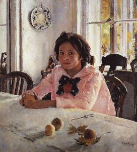 Порывистость и благородство в картине «Девочка с яблоками»