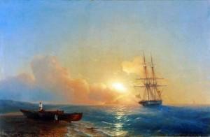 Рыбаки на берегу моря