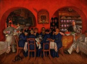 Сочинение по картине Кустодиева «Московский трактир»
