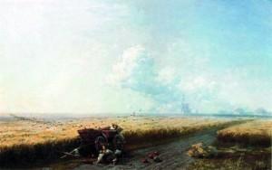 Во время жатвы на Украине