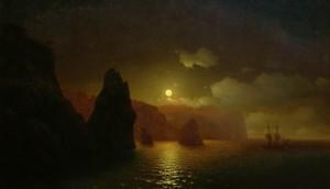 картине И.К. Айвазовского «Георгиевский монастырь»