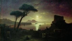 картины Айвазовского «Неаполитанский залив в лунном свете»