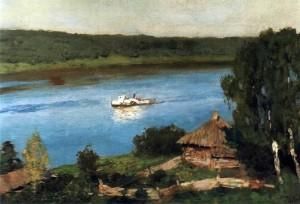 «Пейзаж с пароходом»