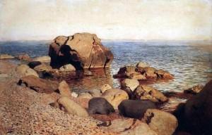 «У берега моря Крым» - Описание картины Исаака Левитана